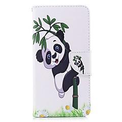 Недорогие Чехлы и кейсы для Huawei Mate-Кейс для Назначение Huawei Mate 10 lite Mate 10 Бумажник для карт Кошелек со стендом Флип Магнитный Чехол Растения Панда Твердый Кожа PU