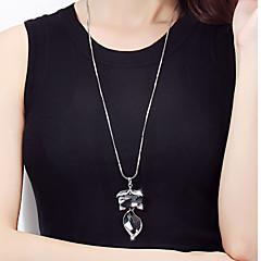 お買い得  ネックレス-女性用 ロング丈 ペンダントネックレス  -  きつね 欧風, ファッション グレー ネックレス ジュエリー 用途 パーティー