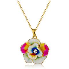 preiswerte Halsketten-Damen Kristall Anhängerketten - Krystall, vergoldet Blumen / Botanik, Blume Modisch Regenbogen Modische Halsketten Schmuck 1 Für Party, Formal