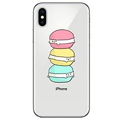 Недорогие Кейсы для iPhone-Кейс для Назначение Apple iPhone X iPhone 8 Ультратонкий С узором Кейс на заднюю панель Продукты питания Мягкий ТПУ для iPhone X iPhone 8