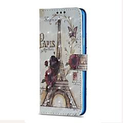 tanie Galaxy S6 Etui / Pokrowce-Kılıf Na Samsung Galaxy S9 S9 Plus Etui na karty Portfel Z podpórką Flip Magnetyczne Pełne etui Wieża Eiffla Twarde Skóra PU na S9 Plus