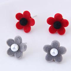preiswerte Ohrringe-Damen Ohrstecker - Blumen / Botanik, Blume Modisch Grau / Rot Für Alltag