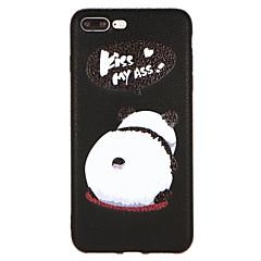 Недорогие Кейсы для iPhone-Кейс для Назначение Apple iPhone X / iPhone 8 С узором Кейс на заднюю панель Животное Твердый Кожа PU для iPhone X / iPhone 8 Pluss / iPhone 8