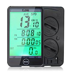 abordables Herramientas, Limpiadores y Lubricantes-SunDing SD-576A Ordenador de Bicicleta Reloj Cronómetro Impermeable Distancia de Recorrido - Dst LCD Velocímetro Con Cable
