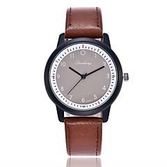 preiswerte Damenuhren-Damen Quartz Kleideruhr Modeuhr Armbanduhren für den Alltag Chinesisch Armbanduhren für den Alltag PU Band Freizeit Modisch Schwarz Rot