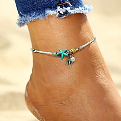 abordables Bijoux pour Femme-Bracelet de cheville - Imitation de perle Étoile de mer, Coquillage Bohème, Mode Blanc Pour Vacances Bikini Femme