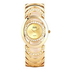preiswerte Armbanduhren für Paare-Damen Paar Armbanduhren für den Alltag Sportuhr Modeuhr Quartz Armbanduhren für den Alltag Legierung Band Analog Luxus Freizeit Silber / Gold - Gold Silber