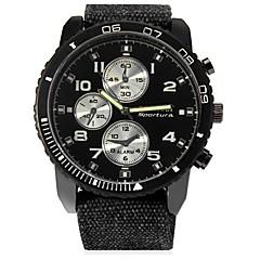 お買い得  メンズ腕時計-JUBAOLI 男性用 クォーツ カジュアルウォッチ 中国 大きめ文字盤 ステンレス レザー バンド クール ブラック