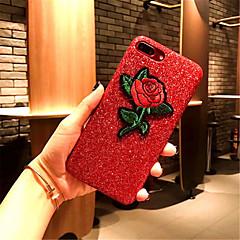 Недорогие Кейсы для iPhone X-Кейс для Назначение Apple iPhone X iPhone 7 Plus С узором Кейс на заднюю панель Цветы Твердый Кожа PU для iPhone X iPhone 8 Pluss iPhone