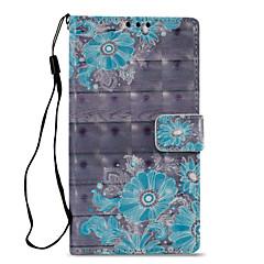 Недорогие Чехлы и кейсы для Sony-Кейс для Назначение Sony Xperia L2 Xperia XZ2 Бумажник для карт Кошелек со стендом Флип С узором Чехол Цветы Твердый Кожа PU для Xperia