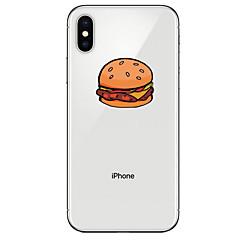 Недорогие Кейсы для iPhone-Кейс для Назначение Apple iPhone X / iPhone 8 Прозрачный / С узором Кейс на заднюю панель Продукты питания Мягкий ТПУ для iPhone XS / iPhone XR / iPhone XS Max