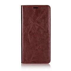 billige Etuier til Xiaomi-Etui Til Xiaomi Mi 6 Plus Kortholder Med stativ Flip Fuldt etui Helfarve Hårdt ægte læder for Mi 6 Plus