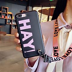 Недорогие Кейсы для iPhone 7-Кейс для Назначение Apple iPhone X iPhone 7 Plus С узором Кейс на заднюю панель Слова / выражения Мягкий Силикон для iPhone X iPhone 8