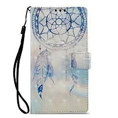 Недорогие Чехлы и кейсы для Sony-Кейс для Назначение Sony Xperia XZ1 Xperia L2 Бумажник для карт Кошелек со стендом Флип Магнитный Чехол Ловец снов Твердый Кожа PU для