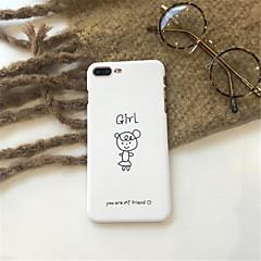 Недорогие Кейсы для iPhone 6 Plus-Кейс для Назначение Apple iPhone X / iPhone 7 Plus С узором Кейс на заднюю панель Живопись Твердый Акрил для iPhone X / iPhone 8 Pluss /