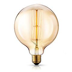 abordables Super venta de LED-1pc 40W E26/E27 G125 2300 K Bombilla incandescente Vintage Edison 220-240V V