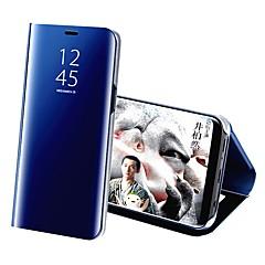 abordables Liquidación-Funda Para Samsung Galaxy S9 Plus / S9 con Soporte / Cromado / Espejo Funda de Cuerpo Entero Un Color Dura Cuero de PU para S9 / S9 Plus
