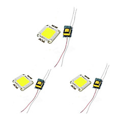 abordables Accesorios LED-3pcs Chip LED Fuente de Poder Aluminio Accesorio de la bombilla