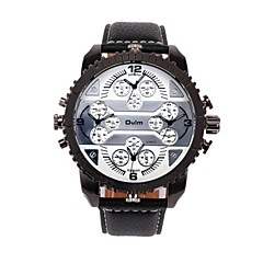 preiswerte Armbanduhren für Paare-Oulm Herrn / Paar Armbanduhren für den Alltag / Modeuhr Japanisch Armbanduhren für den Alltag Leder Band Luxus / Modisch Schwarz / Braun