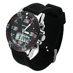 preiswerte Digitaluhren-Herrn Sportuhr Japanisch Armbanduhren für den Alltag PU Band Freizeit Schwarz / Weiß / Grün