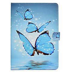 Недорогие Чехлы и кейсы для Galaxy Tab 3 Lite-Кейс для Назначение SSamsung Galaxy Tab 3 Lite / Tab A 8.0 / Tab A 7.0 (2016) Бумажник для карт / Защита от удара / со стендом Чехол Бабочка Твердый Кожа PU для Tab 3 Lite / Tab A 8.0 / Tab A 7.0