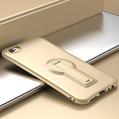 Недорогие Кейсы для iPhone-Кейс для Назначение Apple iPhone 7 Plus iPhone 7 Защита от удара со стендом Матовое Кейс на заднюю панель Сплошной цвет Твердый ТПУ для