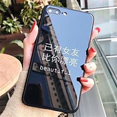 Недорогие Кейсы для iPhone 7-Кейс для Назначение Apple iPhone X iPhone 7 Plus С узором Кейс на заднюю панель Слова / выражения Твердый Закаленное стекло для iPhone X