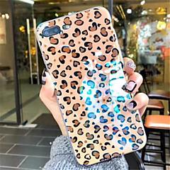 Недорогие Кейсы для iPhone 7-Кейс для Назначение Apple iPhone X / iPhone 7 Plus С узором Кейс на заднюю панель Леопардовый принт Мягкий ТПУ для iPhone X / iPhone 8 Pluss / iPhone 8