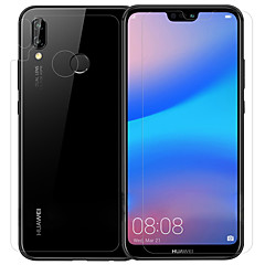 abordables Protectores de Pantalla para Huawei-Protector de pantalla para Huawei Huawei P20 lite Vidrio Templado / PET 1 pieza Protector frontal y posterior y lente de la cámara Alta definición (HD) / Dureza 9H / A prueba de explosión