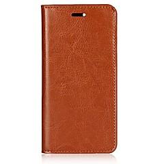 billige Etuier til Xiaomi-Etui Til Xiaomi Mi 6 Kortholder Med stativ Flip Fuldt etui Helfarve Hårdt ægte læder for Xiaomi Mi 6