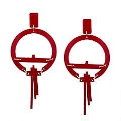 Недорогие Женские украшения-Жен. Серьги-слезки На каждый день Мода Акрил Крест Геометрической формы Бижутерия На выход Для улицы Бижутерия
