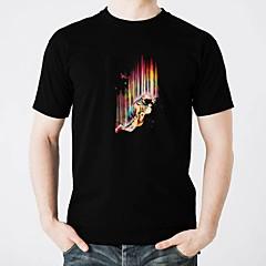 preiswerte LED T-Shirts-LED-T-Shirts Schein Reine Baumwolle LED Freizeit 2 AAA Batterien