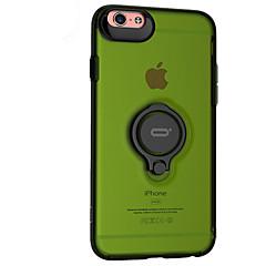 Недорогие Кейсы для iPhone-Кейс для Назначение Apple iPhone 6 iPhone 6 Plus Защита от удара Кольца-держатели Кейс на заднюю панель Сплошной цвет Твердый пластик для