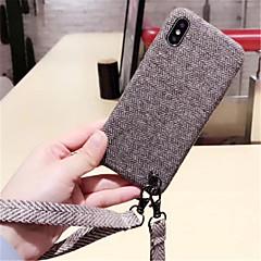 Недорогие Кейсы для iPhone X-Кейс для Назначение Apple iPhone X iPhone 7 Plus С узором Кейс на заднюю панель Сплошной цвет Мягкий текстильный для iPhone X iPhone 8