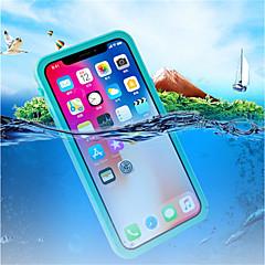 tanie Etui do iPhone-Kılıf Na Apple iPhone X Odporne na wstrząsy Wodoodporne Półprzezroczyste Pełne etui Solid Color Twarde Plastikowy na iPhone X