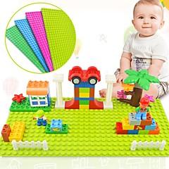 hesapli -Big Size Blocks Base Plate 32*16 Dots 51*25.5 cm Baseplate Kilitlenen Bloklar Zabawka Oyuncaklar Dikdörtgen Aile Yüksek kalite Yeni Dizayn