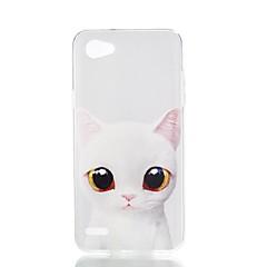 Χαμηλού Κόστους Θήκες / Καλύμματα για LG-tok Για LG V30 Q6 Με σχέδια Πίσω Κάλυμμα Γάτα Μαλακή TPU για LG X Style LG X Power LG V30 LG Q6 LG K10 LG K8
