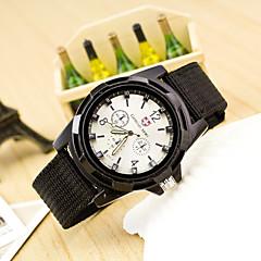 preiswerte Herrenuhren-Herrn Chinesisch Armbanduhren für den Alltag Stoff Band Modisch Schwarz / Blau / Dunkelgrün