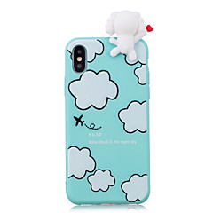 cheap iPhone Cases-Case For Apple iPhone X iPhone 8 Shockproof Pattern DIY Back Cover Dog 3D Cartoon Cartoon Soft TPU for iPhone X iPhone 8 Plus iPhone 8