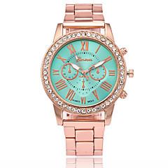 preiswerte Damenuhren-Herrn / Damen Chinesisch Armbanduhren für den Alltag / Imitation Diamant Legierung Band Modisch Gold