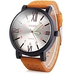 お買い得  メンズ腕時計-JUBAOLI 男性用 クォーツ カジュアルウォッチ 中国 大きめ文字盤 レザー バンド クール ブラウン