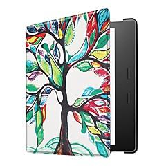 お買い得  その他のケース-ケース 用途 BLU Kindle Oasis 2(第2世代、2017年リリース) 超薄型 フルボディーケース 幾何学模様 フクロウ エッフェル塔 ハード PUレザー のために Kindle Oasis 2(2nd Generation, 2017 Release)