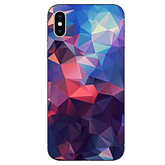 tanie Etui do iPhone-Kılıf Na Apple iPhone X iPhone 8 Wzór Czarne etui Geometryczny wzór Miękkie TPU na iPhone X iPhone 8 Plus iPhone 8 iPhone 7 Plus iPhone 7