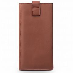 Недорогие Кейсы для iPhone-Кейс для Назначение Apple iPhone 8 iPhone 8 Plus Бумажник для карт Кошелек Защита от удара Чехол Сплошной цвет Мягкий Настоящая кожа для