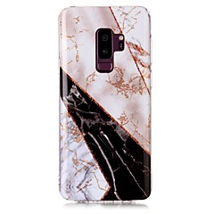 voordelige Galaxy S6 Hoesjes / covers-hoesje Voor Samsung Galaxy S9 S9 Plus IMD Patroon Achterkant Marmer Glitterglans Zacht TPU voor S9 Plus S9 S8 Plus S8 S7 edge S7 S6 edge