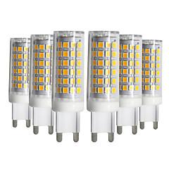 cheap LED Bulbs-YWXLIGHT® 6pcs 9W 750-850lm G9 LED Bi-pin Lights T 76 LED Beads SMD 2835 Dimmable Warm White Cold White Natural White 220-240V