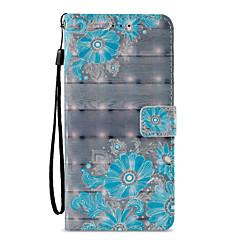 olcso Galaxy S6 tokok-Case Kompatibilitás Samsung Galaxy S9 S9 Plus Kártyatartó Pénztárca Állvánnyal Flip Minta Héjtok Virág csipke nyomtatás Kemény PU bőr mert