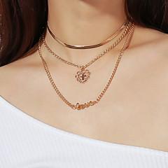 お買い得  ネックレス-女性用 ペンダントネックレス  -  十字架, ハート ファッション ゴールド ネックレス 用途 パーティー/フォーマル, 贈り物, 日常