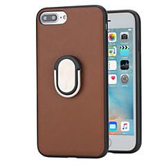 Недорогие Кейсы для iPhone-Кейс для Назначение Apple iPhone 8 Plus iPhone 7 Plus Защита от удара со стендом Кольца-держатели Кейс на заднюю панель Сплошной цвет
