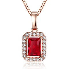 preiswerte Halsketten-Damen Kubikzirkonia Geometrisch Anhängerketten - Roségold, Zirkon Retro, Modisch Rotgold Modische Halsketten Für Geschenk, Festtage